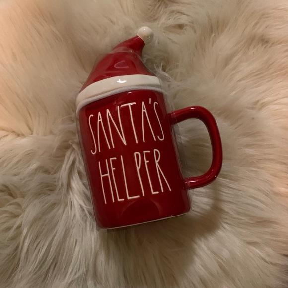 Rae Dunn Santa's Helper Red Christmas Hat Mug